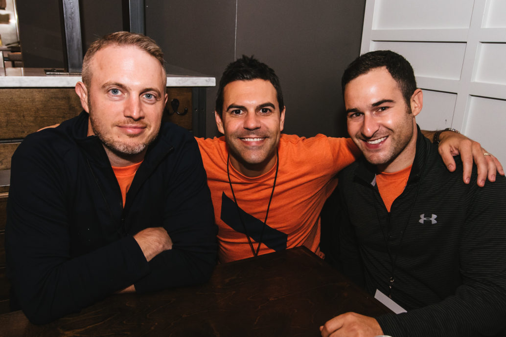 Founders Mike Gadsby and Keith Scandone with Forge Committee Member, Justin Handler